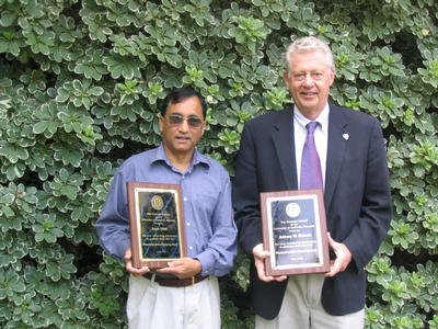 Dissertation Mentor/Advisor 2005 Award recipient are, from left, Aman Ullah and Anthony W. Norman