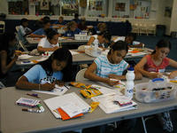 Students take part in the 2004 Healthy Body Healthy Minds program.