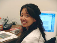 Carrie Wang, a plant cell biology REU student.