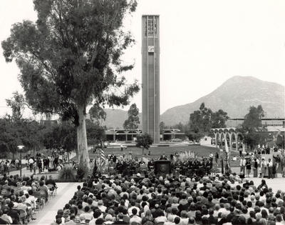 A picture from the dedication of the tower, 40 years ago.