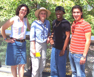 From Left: Sharon Walker, Heather Smith, with RCC students D.J. Cummings and Jose Avila.