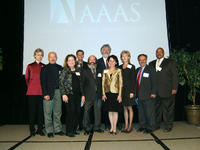 The most recent class of AAAS Fellows together at a recent event