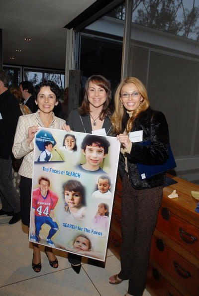 UCR Chancellor France Córdova (left), Rhonda Welch-Scalco (center) and Terri Johanesen (right) show the many faces of SEARCH at a recent fund-raising event in Los Angeles. (Photo by Michael Elderman.)