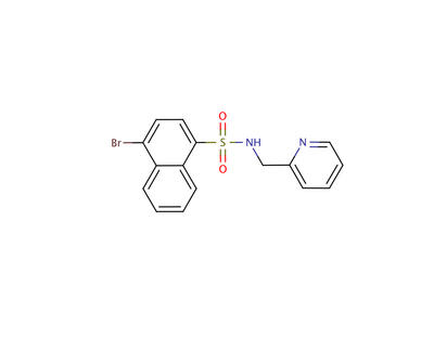 Chemical structure of pyrabactin.  Image credit: Cutler lab, UC Riverside.