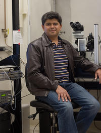 Anandasankar Ray is an assistant professor in the Department of Entomology at UC Riverside.  Photo credit: Ray lab, UC Riverside. (Additional image below.)