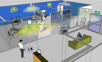 Networking via light could be especially helpful in hospitals, airports and other environments where radio frequencies can interfere with specialized equipment. Illustration provided by Zhengyuan Xu, professor of electrical engineering.