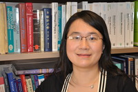 Chun Ning (Jeanie) Lau is an associate professor in the Department of Physics and Astronomy at UC Riverside.  Photo credit: UCR Strategic Communications. (Additional image below.)