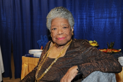 Maya Angelou relaxes before speaking at UC Riverside on Oct. 22. (photo credit: Michael Elderman)