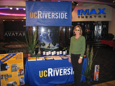 Jodie Holt at the Ontario Palace Stadium 22 & IMAX, where, on Dec. 19, she answered the public's questions on how she lent credibility to the plants seen in the film <i>Avatar</i>.