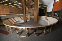 Samuel Starr¹s Circulus, 2010, a 50-foot-diameter bicycle track, was<br />