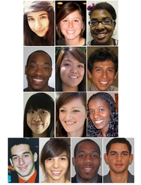 (Top, l-r) Cynthia De Leon, Sara Crowder, Christy Charles, (Row 2, l-r) Anthony Bowers, Stacey Lumabao, Fortino Morales III, (Row 3, l-r) Cheng Ung, Paige Stevens, Serkadis Krohm, (Row 4, l-r) Jayson Fitter, Elizabeth Tizcareno, Nicholas Sakover and Ariel Reyes.