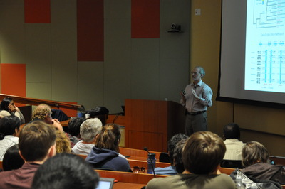 John Werren gives the 2011 Alfred M. Boyce Lecture on May 16.  (Photo added on May 17, 2011.)  Photo credit: Miki Kelley.