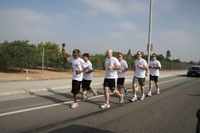 UCPD officers take part in the 2010 Special Olympics Southern California Torch Run.