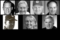 The Hall of Fame: (L to R) Frank Lindeburg, Ray Dalke, Jack Smitheran,John Masi, Don Edwards, Sue Gozansky, Chris Rinne