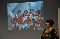 Kazuko Suematsu, an associate professor at Tohoku University, spoke at UC Riverside on Monday.