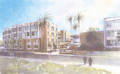 Rendering of Engineering II.  Occupancy is scheduled for the 2004-2005 academic year.