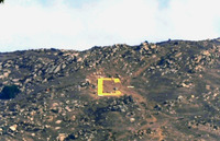 The C on the mountain has been changed. Photo by Kris Lovekin