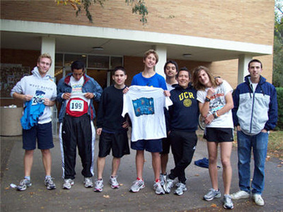 Some of the runners from the fifth annual Spirit of the Tribes 5K in 2010.(Photo courtesy of Native American Student Programs.)