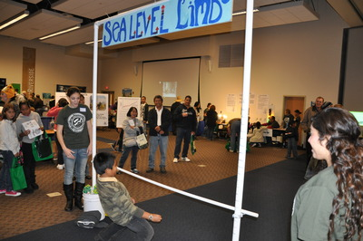 The Sea Level Limbo was a popular activity at the fair. Photo credit: UCR Strategic Communications.