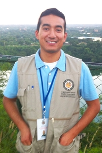 UCR student Diego Preciado during the election monitoring mission to Nicaragua in November.