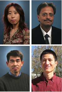 Top row, left to right: Xuemei Chen and Rajiv Gupta; bottom row, left to right: Yingbo Hua and Yinsheng Wang.