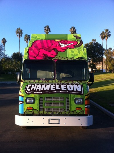 A wild and distinctive look will make the Culinary Chameleon stand out as it travels across campus. The truck will also have a Facebook page and Twitter link to allow fans to keep track of hours and specials.