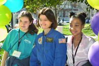 Sally Ride with participants at the recent science fair event in Atlanta