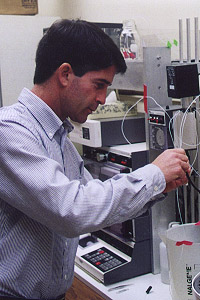 Dr. Timothy Close in the lab.