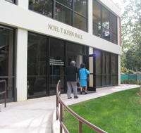 The former Bio-Agricultural Library was named Noel T. Keen Hall on April 18, 2003.  (Photo credit: Lisa Dunlap.)