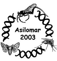 The Fourth International Workshop on Transgenesis and Genomics of Invertebrate Organisms, cosponsored by the College of Natural and Agricultural Sciences at UC Riverside, will be held May 11-15, 2003, at the Asilomar Conference Center, Pacific Grove, Calif. (Logo by Grazyna Zimowska.)