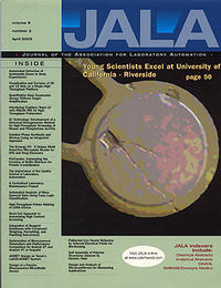 Cover of the Journal of the Association for Laboratory Automation, vol. 8, no. 2, April 2003.