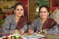 Amrit and Rabindra K.D. Kaur Singh at Twin Studio, Wirral, England<br />