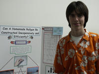 David Stephens of North High School won several awards for his project with John Issa (not pictured)