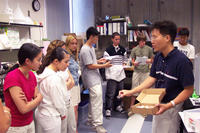 Students get a lab tour during