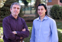 Engineering professor Michalis Faloutsos worked with UC Riverside graduate student Thomas Karagiannis on P2P research.