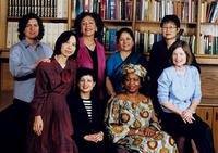 A research group that includes (back) Michele Rosenthal, Sylvia Marcos, Corinne Kumar, Shu-mei Shih and (front) Yenna Wu, Amalia Cabezas, Joy Ezeilo, and Marguerite Waller