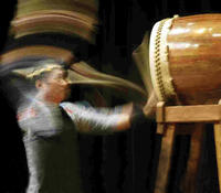 taiko drumming is fast and loud...