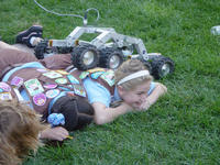 Girls Scouts get the Mars Rover treatment at last year's Space Science & Engineering Day. Scientists and engineers from NASA's Jet Propulsion Laboratory in Pasadena bring a variety of fun displays.