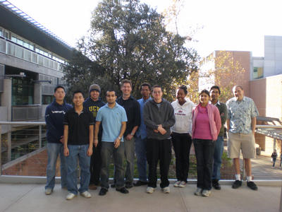 Students who work with Professor David Kisailus and research associate James Weaver.