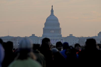 Inauguration day dawns. (Photo by Carlos Puma)