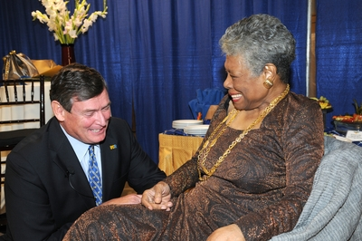 Maya Angelou spoke at UC Riverside on Oct. 22. (photo credit: Michael Elderman)