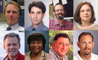 Top row, left to right: Eric L. Chronister, Timothy Close, Richard J. Debus, and Darleen A. DeMason; bottom row, left to right: Timothy W. Lyons, Yolanda Moses, Walid A. Najjar, and Daniel Schlenk.