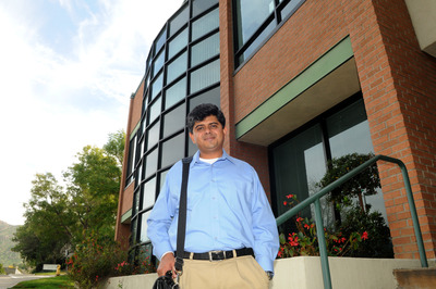 Anand Ray, assistant professor of entomology, who did the original research on mosquitoes. Photo credit: Michael Elderman.