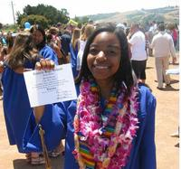 Taylor Booker at her high school graduation.