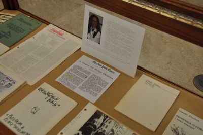 Clandestine publications from Poland are on display at UCR.