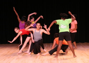 High school students present a dance during the 2009 Gluck Summer Camp for the Arts.