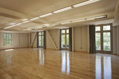 An upstairs dance studio.