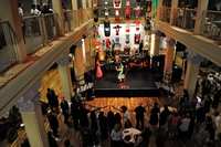 Guests enjoy flamenco dancers at the Culver Center gala reception./Photo credit Carlos Puma