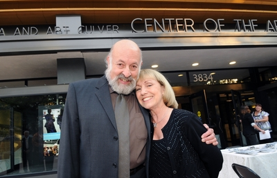 Jonathan Green, ARTSblock executive director, and Frances Culver, who with her late husband Tony gave $5 million to launch the Culver Center project, prepare to celebrate at the center's grand opening gala./Photo credit Michael Elderman