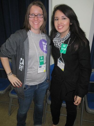 Danielle Dempsey (left) and Yuriko Rodriguez attended the interfaith leadership meeting in Washington, D.C.